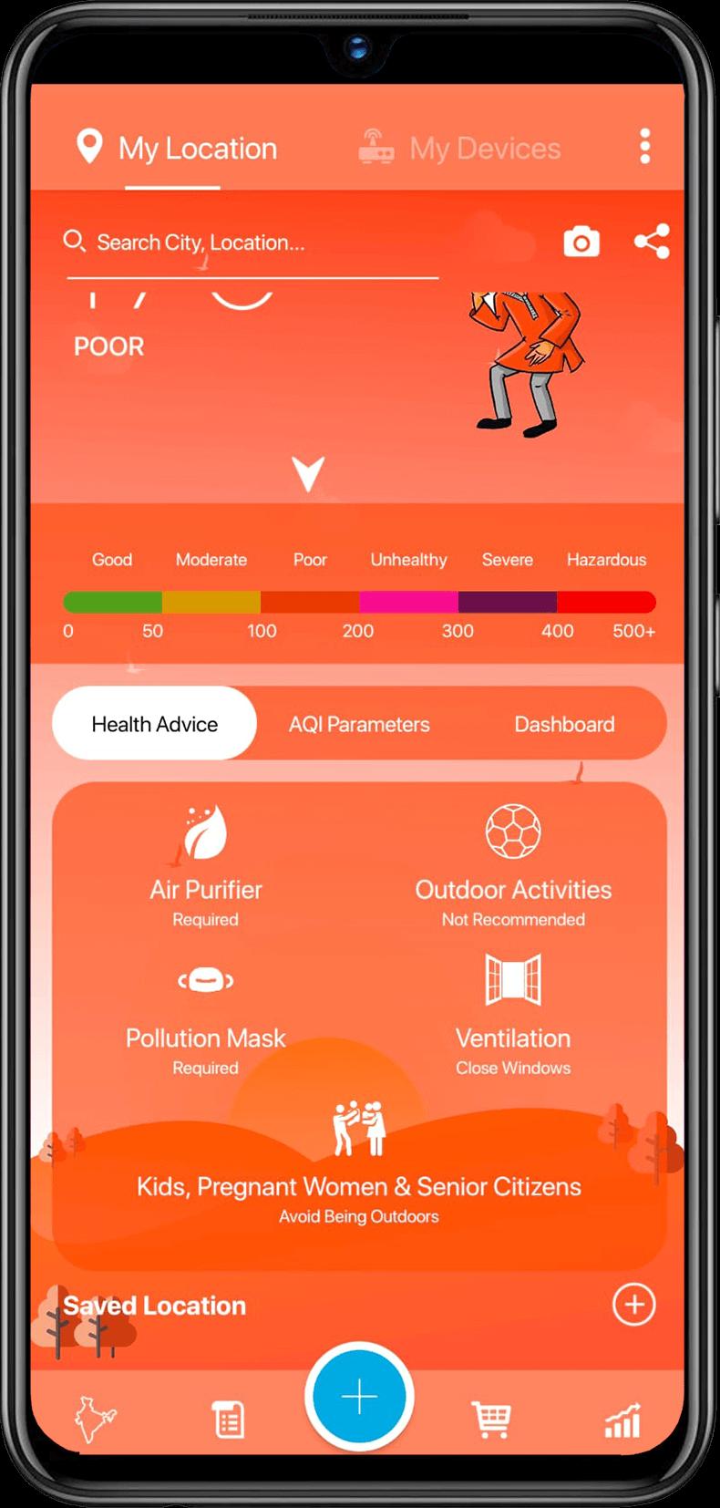 Health Advice for air pollution