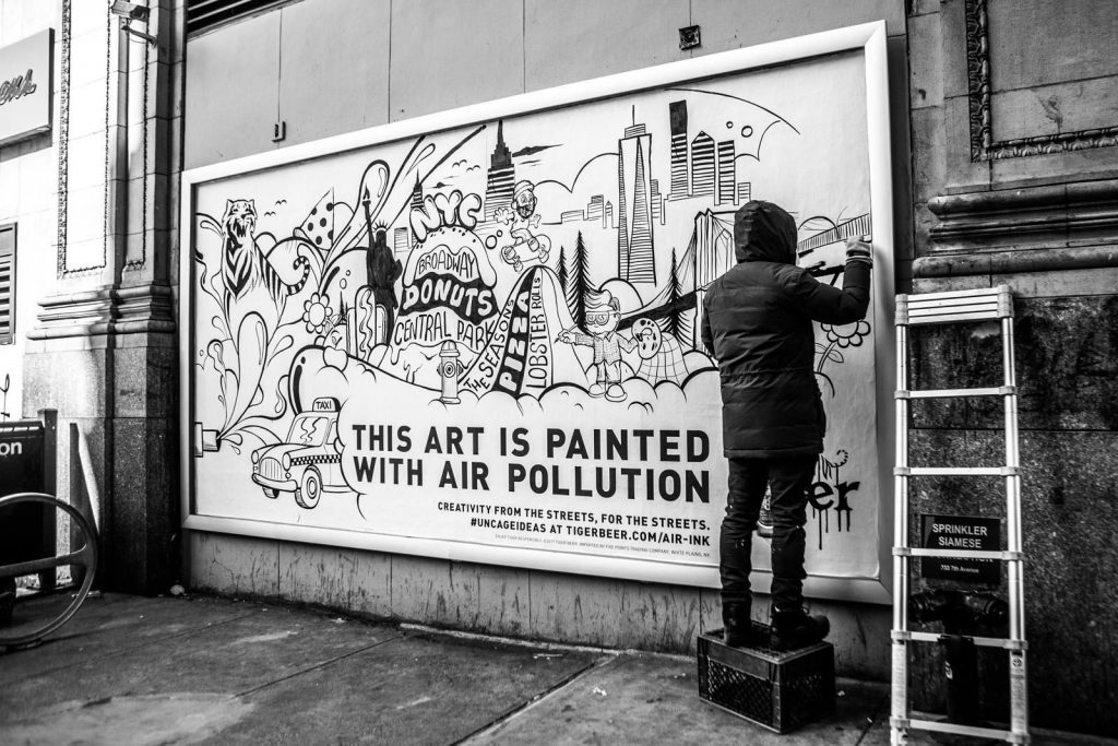 air pollution into art
