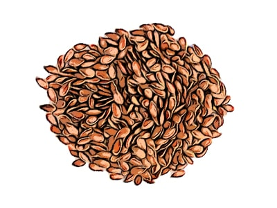Flaxseeds for fighting air pollutoin