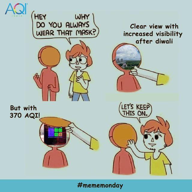 Meme on Air Pollution- Delhi After Diwali