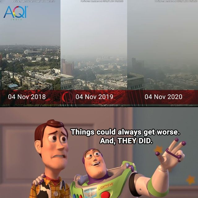 memes on air pollution- things can always get worse