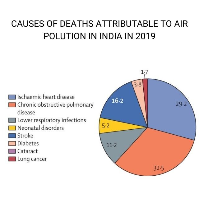 Health aspect of deaths due to air pollution