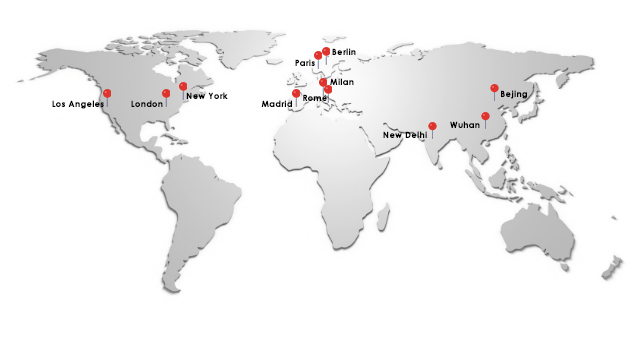 The 11 cities for the study